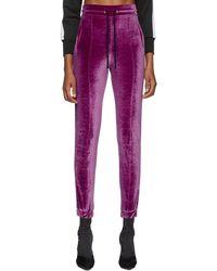 Marcelo Burlon - Purple Logo Tape Lounge Trousers - Lyst