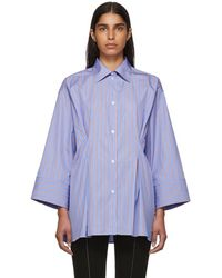 Totême  - Blue And Red Striped Sedona Shirt - Lyst