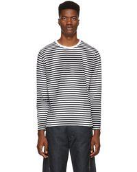Nanamica - Black & White Long Sleeve Coolmax T-shirt - Lyst