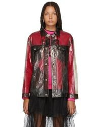 RED Valentino - Grey Transparent Jacket - Lyst