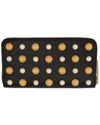 Balmain - Black Pearl Love Lion Continental Wallet - Lyst