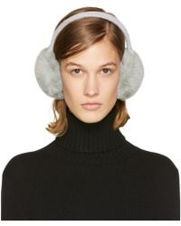 Yves Salomon - Grey Fur Earmuffs - Lyst