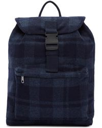 A.P.C. - Navy Clip Backpack - Lyst