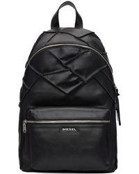 DIESEL - Black L-rowler Backpack - Lyst