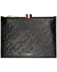 Thom Browne - Black Large Embossed Toy Icon Coin Pouch - Lyst