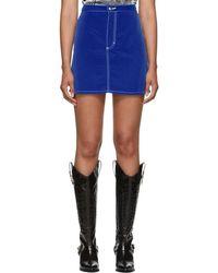 Eckhaus Latta - Blue El Skirt - Lyst