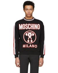 Moschino - Black Logo Sweatshirt - Lyst