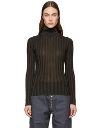 Acne Studios - Brown Fitted Turtleneck - Lyst