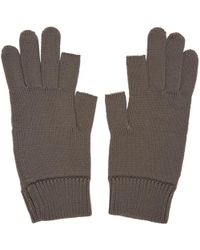 Rick Owens - Grey Knit Gloves - Lyst