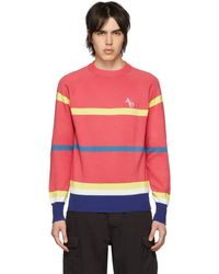 aaf1404592a Lyst - Gucci Monogram-intarsia Striped Wool Jumper in Yellow for Men