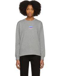 Courreges | Grey Snapped Logo Sweatshirt | Lyst