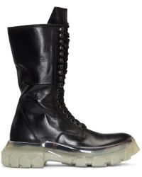 Rick Owens - Black Clear Sole Tractor Boots - Lyst