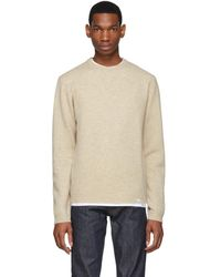 Norse Projects - Beige Lambswool Sigfried Sweater - Lyst