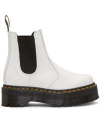 Dr. Martens - White 2976 Quad Chelsea Boots - Lyst