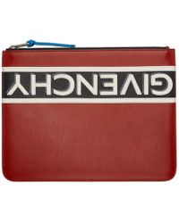 Givenchy - Red Reverse Zip Pouch - Lyst
