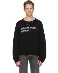 Enfants Riches Deprimes - Black E.r.d Classique Logo Sweater - Lyst