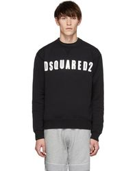 DSquared² - Black Shiny Logo Cool Fit Sweatshirt - Lyst