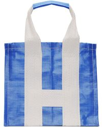 Comme des Garçons - Blue And White Large Poly Tote - Lyst