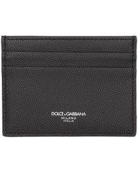 Dolce & Gabbana - Pebbled Leather Cardholder - Lyst