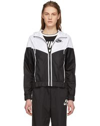 Nike - Black And White Windrunner Jacket - Lyst