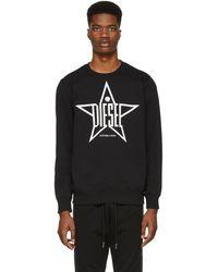 DIESEL - Black S-gir-ya Sweatshirt - Lyst