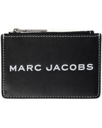 Marc Jacobs - Black Logo Tag Multi Card Holder - Lyst