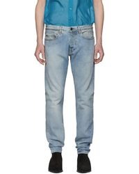 Saint Laurent - Blue Skinny Jeans - Lyst