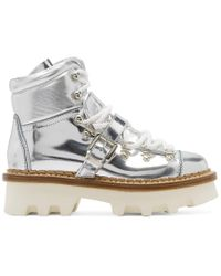 Moncler Grenoble - Silver Winter Hiking Boots - Lyst