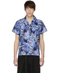 Naked & Famous | Navy Aloha Shirt | Lyst