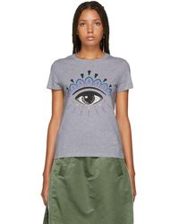 KENZO - Grey Eye T-shirt - Lyst