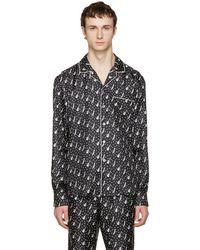 Dolce & Gabbana - Black Silk Music Pajama Shirt - Lyst