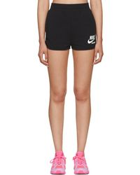Nike - Black High-waisted Archive Shorts - Lyst