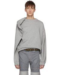 Y. Project - Grey Oversized Sweatshirt - Lyst