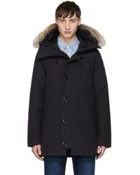 Canada Goose - Navy Down & Fur Chateau Parka - Lyst