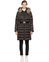 Moncler - Black Down & Fur Tinuviel Coat - Lyst