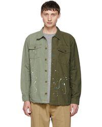 John Elliott - Green Distorted Military Shirt - Lyst
