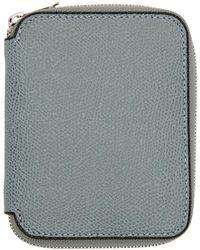 Valextra - Blue 6cc Zip Around Wallet - Lyst