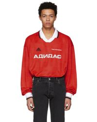 Gosha Rubchinskiy - Red Long Sleeve Adidas Originals Edition Polo - Lyst