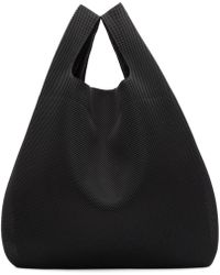 MM6 by Maison Martin Margiela - Ssense Exclusive Black Mesh Shopping Tote - Lyst