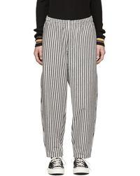 Nanamica - Grey Vertical Stripe Trousers - Lyst