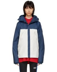 The North Face - Blue And White 1990 Mountain Jacket - Lyst