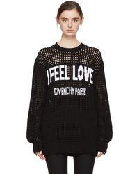 Givenchy - Black Oversized I Feel Love Jumper - Lyst