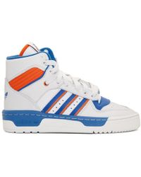 adidas Originals - White And Blue Rivalry High-top Sneakers - Lyst