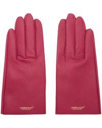 Undercover - Pink Lambskin Gloves - Lyst