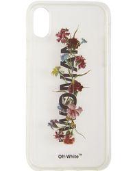 Off-White c/o Virgil Abloh - Transparent Flowers Iphone X Case - Lyst