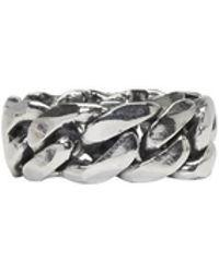 Emanuele Bicocchi - Silver Big Chain Ring - Lyst