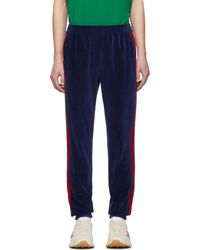 Gucci - Blue Velour Jogging Lounge Trousers - Lyst