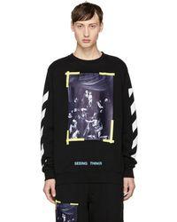 Off-White c/o Virgil Abloh - Black Diagonal Caravaggio Sweatshirt - Lyst