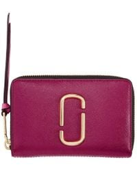 Marc Jacobs - Pink Small Snapshot Wallet - Lyst