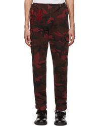 Valentino - Red Camouflage Cargo Trousers - Lyst